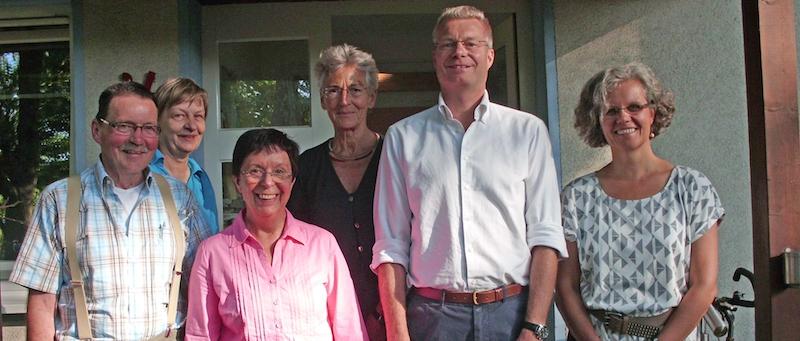 von links: Evelin Vortman, Prof. Dr. Patschke, Iswalde Engmann, Dr. Eckhard Möller, Christel Kahl, Udo Stein