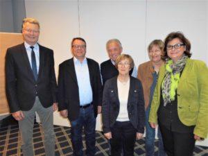 von links: Dr. Christoph König, Josef Vortmann, Werner Schmitz, Berti Oberholz, Maria-Luise Hartling, Bärbel Thebach